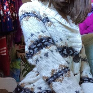 ANN TAYLOR Loft Cozy WARM Chunky Long Sweater